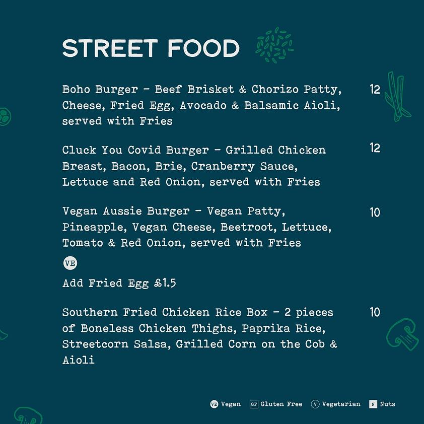 Bohemia - Menu - 11 2020 - Street Food &