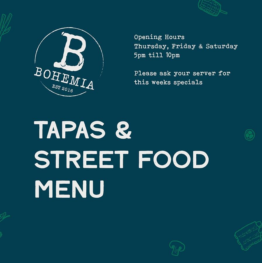 Bohemia - Menu - 2020 12 - Street Food &