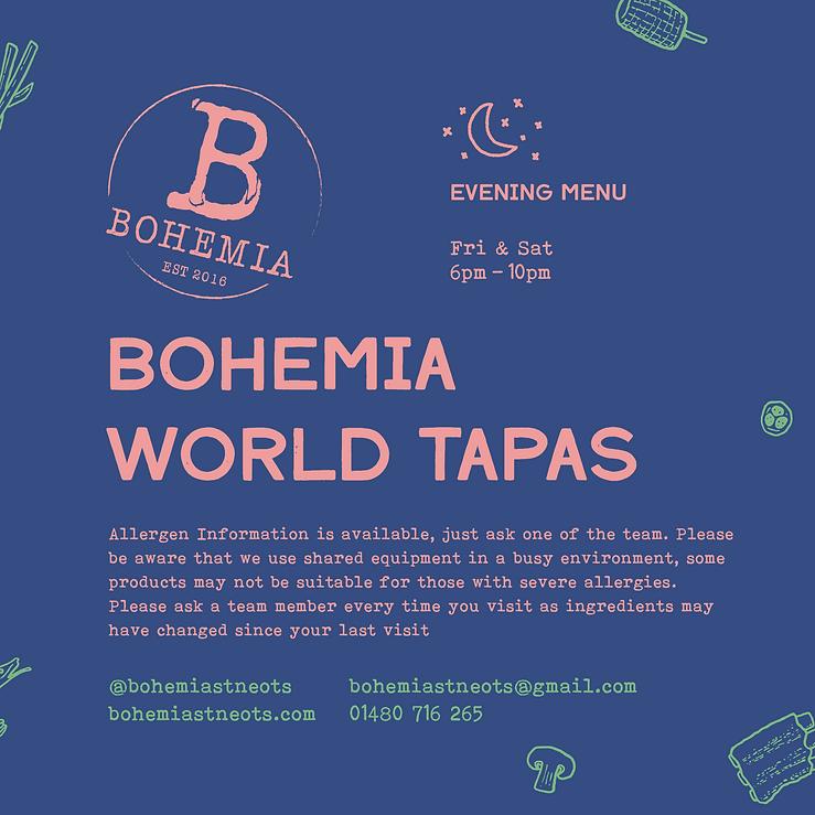 Bohemia - Menu - 09 2020 - V2 - IG - Eve