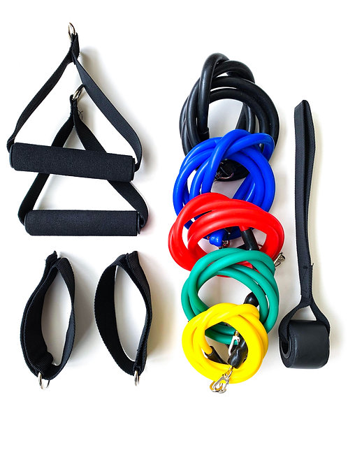 Resistance Band Set + Full Body Training Plan