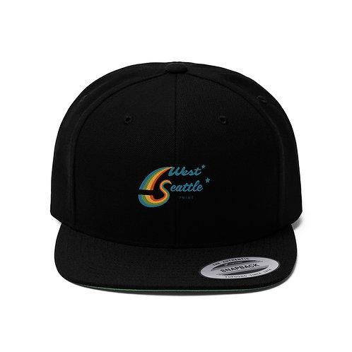 West Seattle Pride Unisex Flat Bill Hat