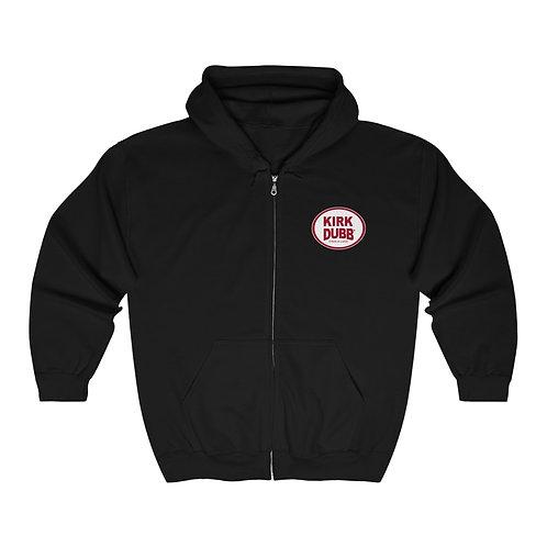 Kirk Dubb Chug a Lugg Black Unisex Heavy Blend™ Full Zip Hooded Sweatshirt