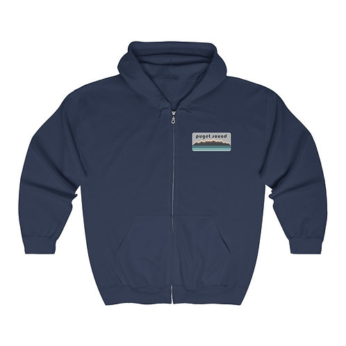 Puget Sound - Unisex Heavy Blend™ Full Zip Hooded Sweatshirt