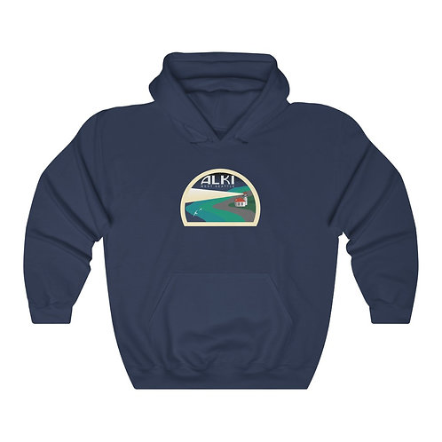 Alki Lighthouse - Unisex Heavy Blend™ Hooded Sweatshirt