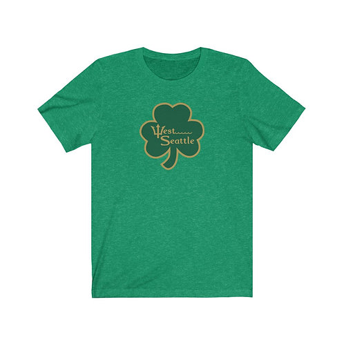 West Seattle Shamrock Gold - Unisex Jersey Short Sleeve Tee