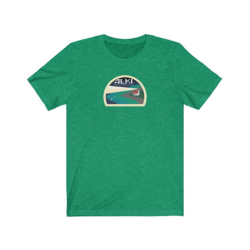 Alki Lighthouse - Unisex Jersey Short Sleeve Tee