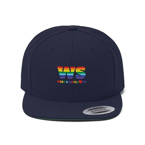 West Seattle Love Unisex Flat Bill Hat