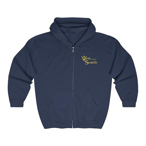 West Seattle Trident - Unisex Heavy Blend™ Full Zip Hooded Sweatshirt