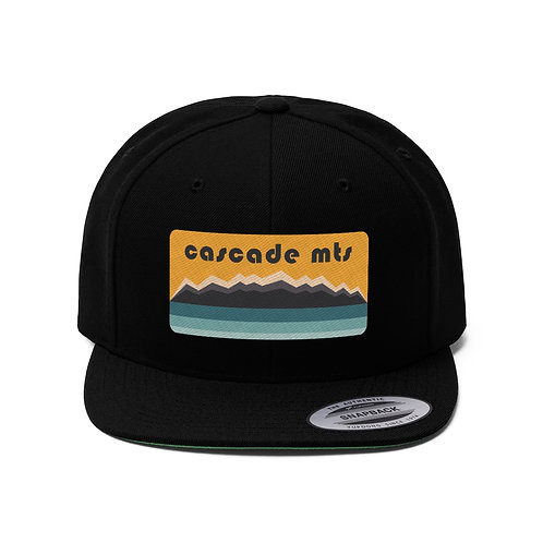 Cascade Mountains - Unisex Flat Bill Hat