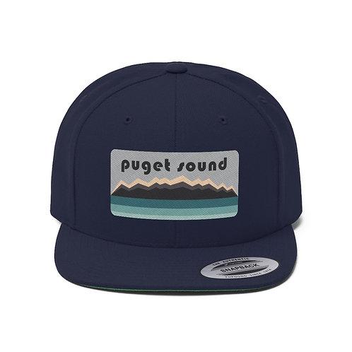 Puget Sound Unisex Flat Bill Hat