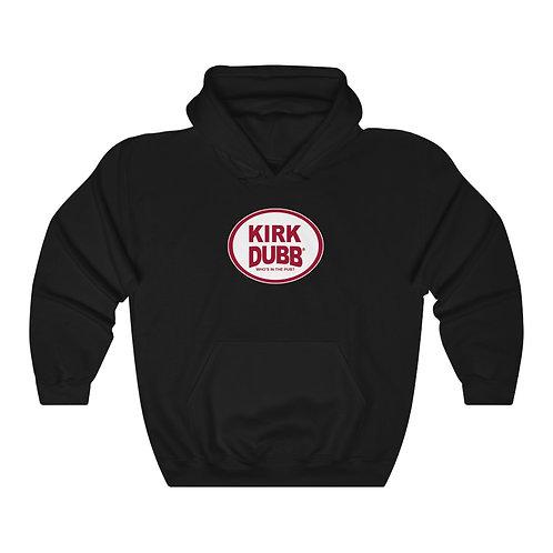 Kirk Dubb Who's in the Pub? Black Unisex Heavy Blend™ Hooded Sweatshirt