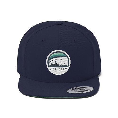Jet City Design Company Unisex Flat Bill Hat
