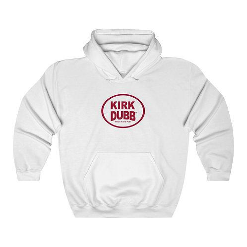 Kirk Dubb Who's in the Pub? White Unisex Heavy Blend™ Hooded Sweatshirt