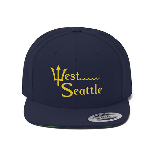 West Seattle Trident Unisex Flat Bill Hat