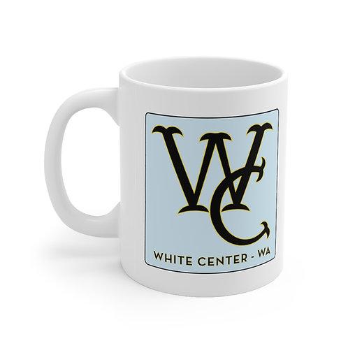 White Center Ceramic Mug 11oz