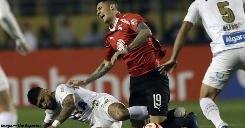 Santos e Independiente na libertadores 2018