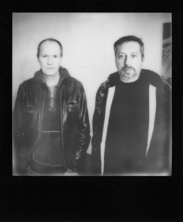 Richard Prince and me. I did not expect to meet him after a long period of time. True polaroid shot.