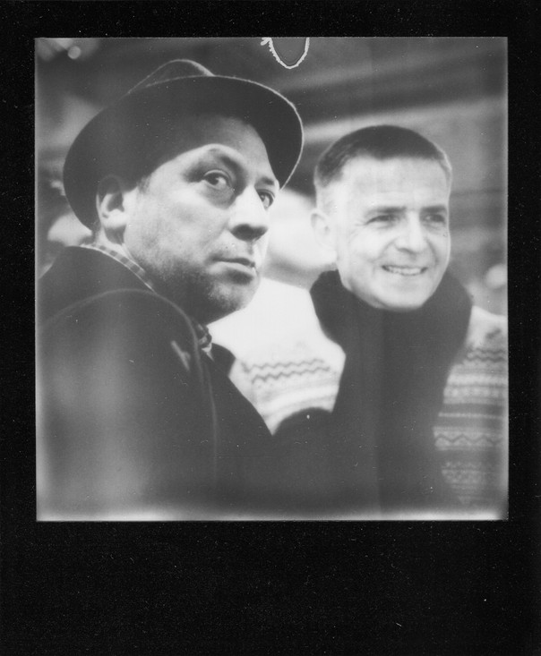 Andreas and Andrey. Hard to forget that day. Very rare photograph. Emulsion is somewhat damaged, but the other copy is no better.
