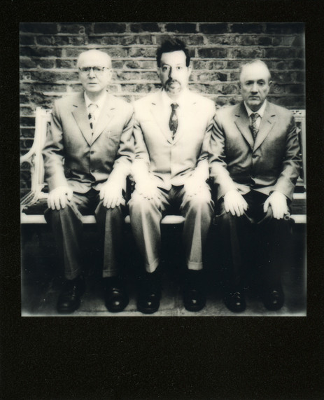 Here we are together with Gilbert and George in London. Guess who is who.