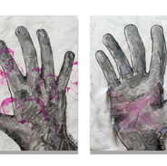 Doug's Hands (Diptych)