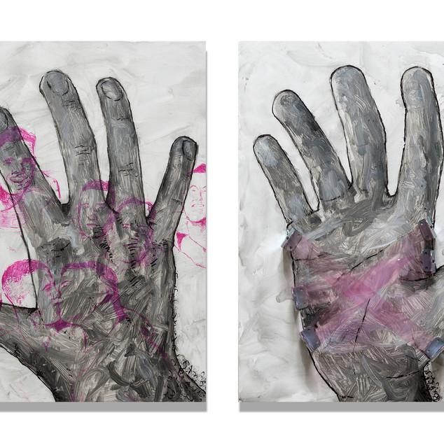 Doug's Hands (Diptych)