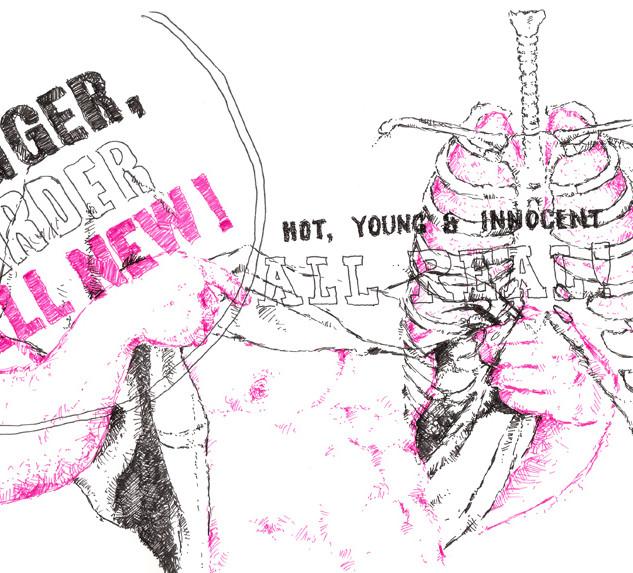 Untitled (Pink & Black #6)