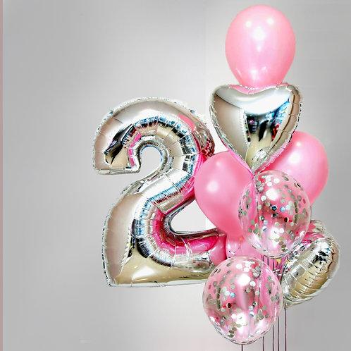 """Balloons Bouquet """"Pink Lightness"""""""