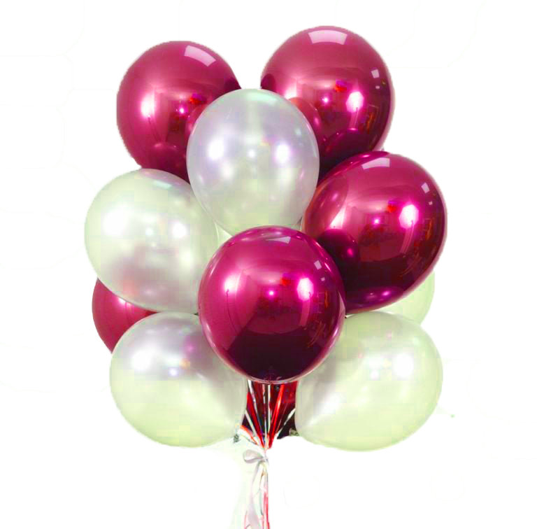 """Balloons Bouquet """"Rose Red Lake"""""""