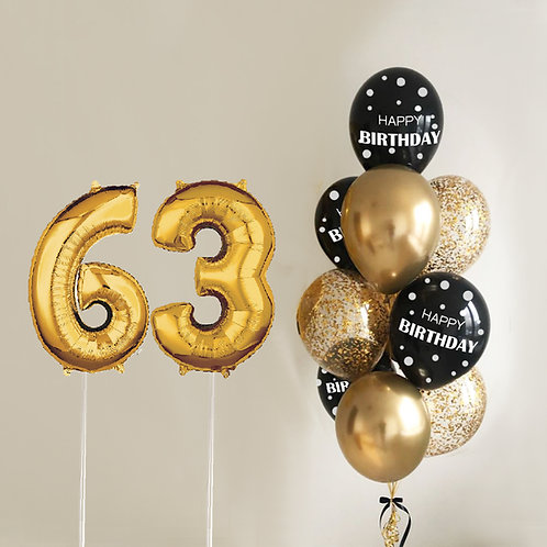 "Balloons Bouquet ""Gold Ages"""