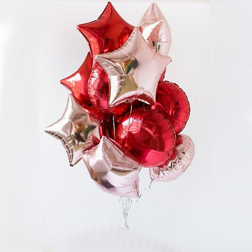 "Balloons Bouquet ""Red Hypnosis """