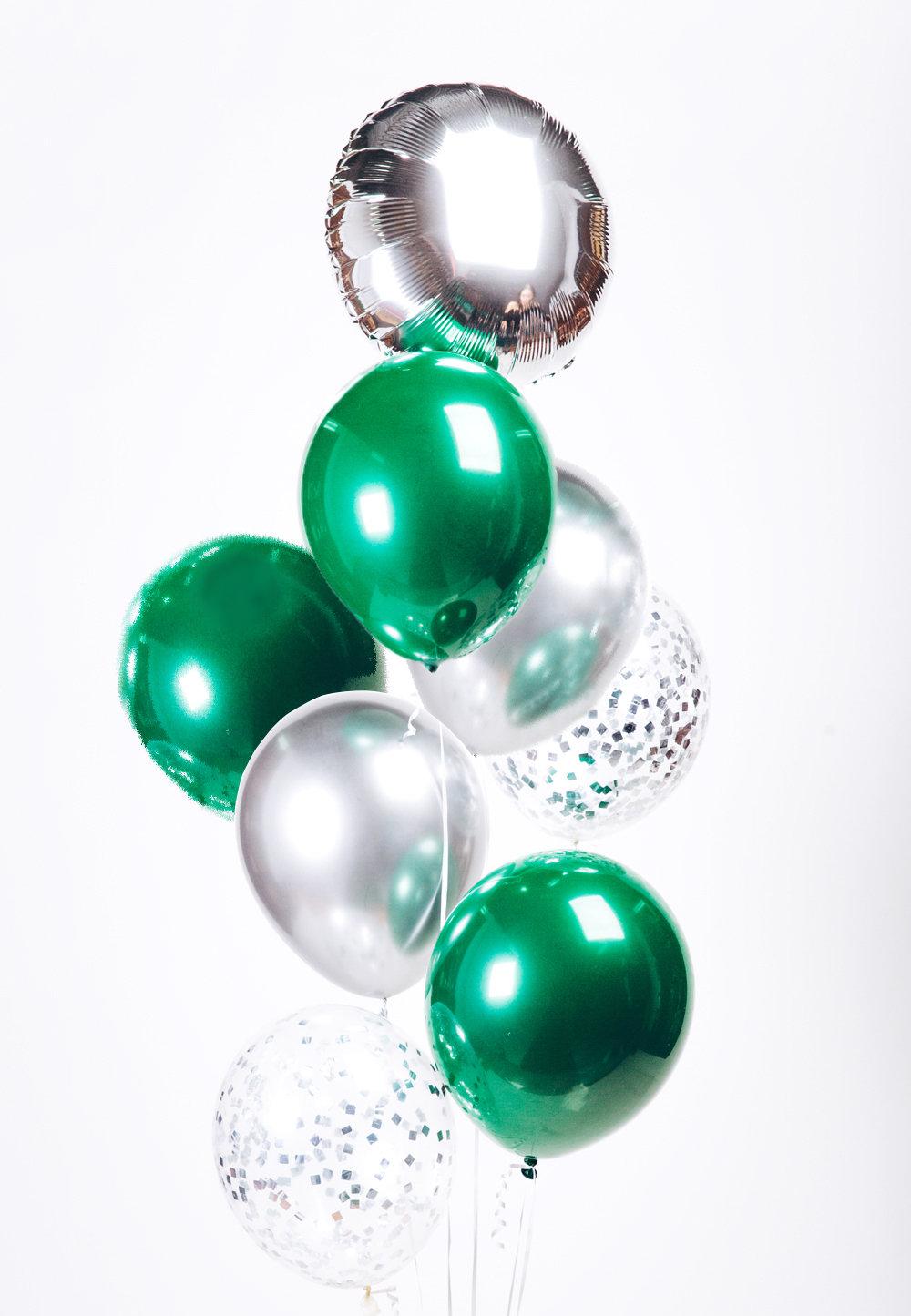 "Balloons Bouquet ""Emerald Metallic"""