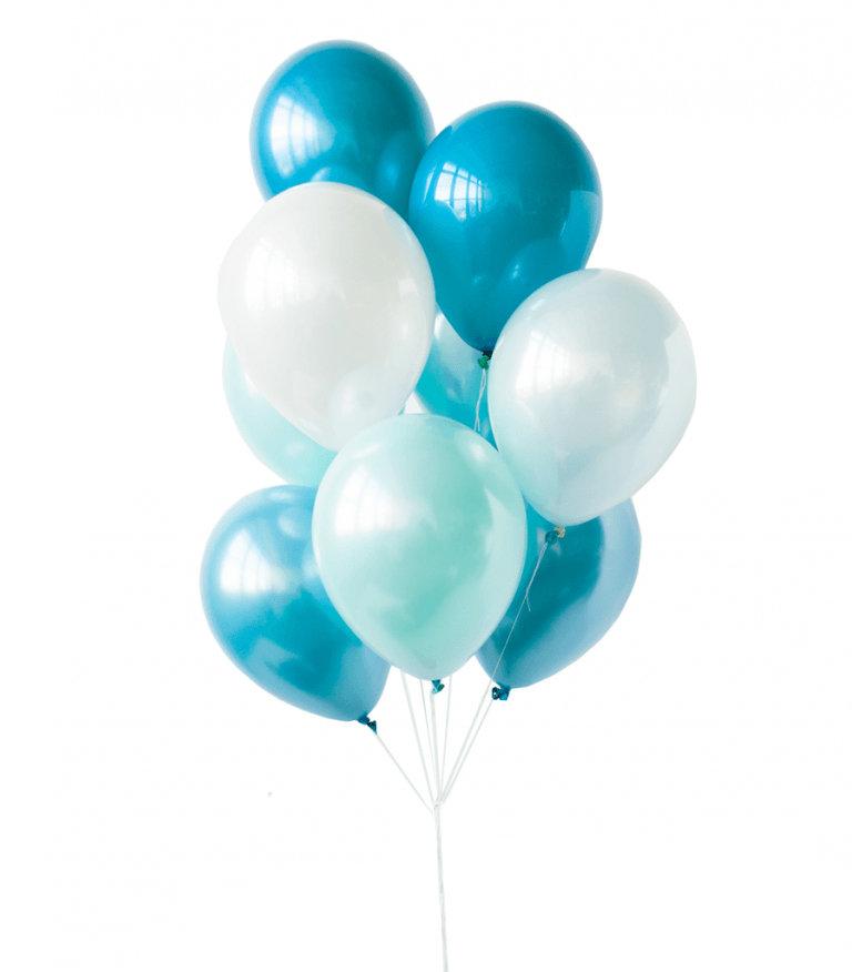 "Balloons Bouquet ""Blue Silence"""