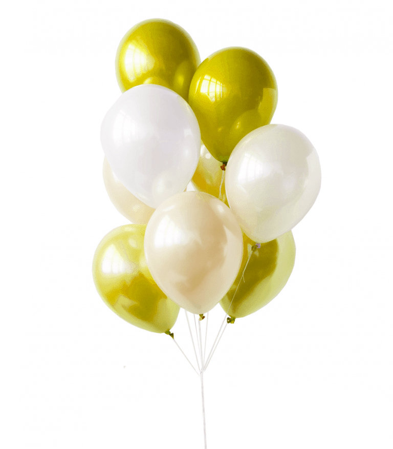 "Balloons Bouquet ""Yellow Silence"""