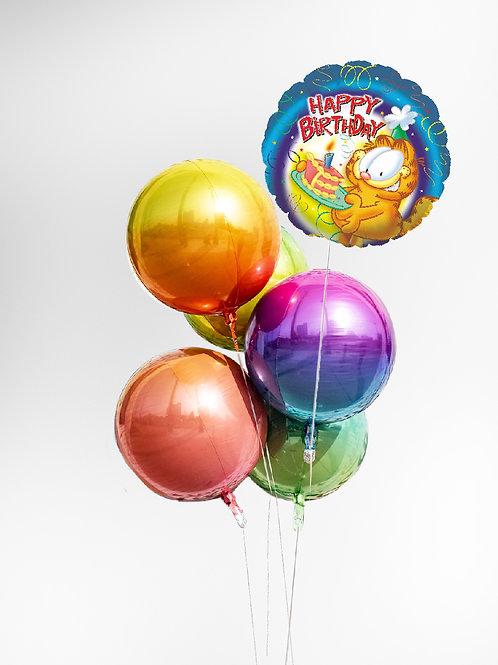 "Balloons Bouquet ""Garfield Birthday Piece of Cake"""