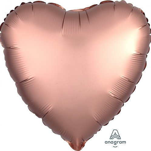 Luxe Rose Copper Heart