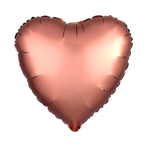 Rose Copper Heart