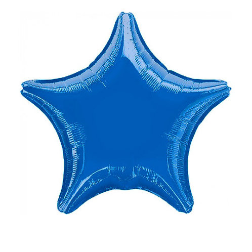 "19"" Metallic Blue Star"