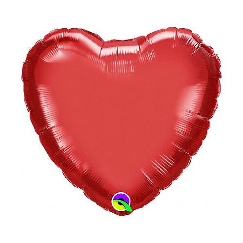 Standard Heart Metallic Red