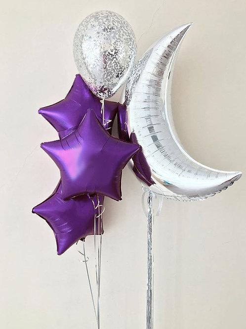 """Balloons Bouquet """"Moon Shard"""""""