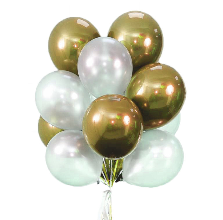"Balloons Bouquet ""Gold Lake"""