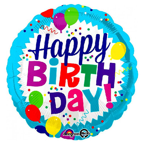 Happy Birthday Balloon Burst