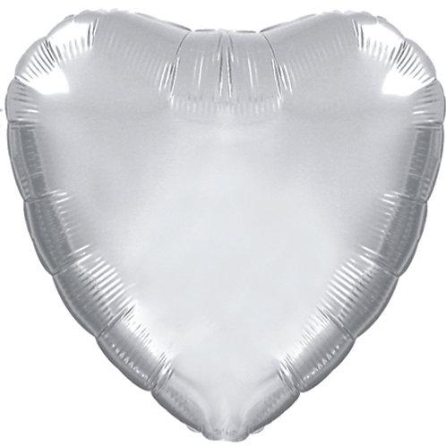 "18"" CTI Brand Platinum Silver Heart"