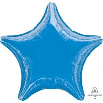 "19"" Metallic Blue Star"