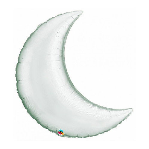 "35"" Silver Plain Foil Crescent Moon"