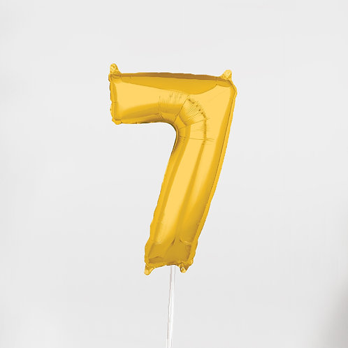 """Number """"7"""" Gold 26 Inch"""