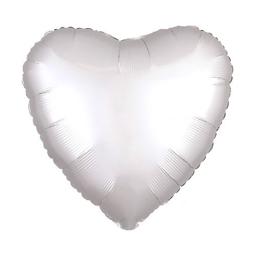 "18"" Solid White Heart"