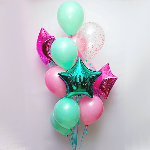"Balloons Bouquet ""Cold Mint"""