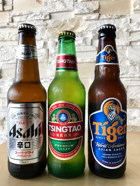 Asahi, Tsing Tao, Tiger Beer