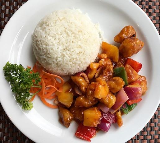 Sweet & sour chicken rice