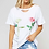 Thumbnail: White Top with Rose Print